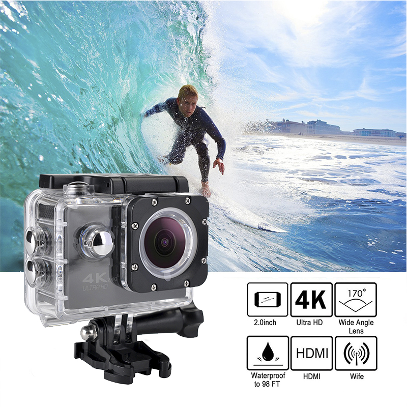 Tekcam F60R 4k WIFI zdalna kamera akcji 1080p HD 16MP GO PRO styl kask Cam 30 metrów wodoodporna kamera sportowa DV
