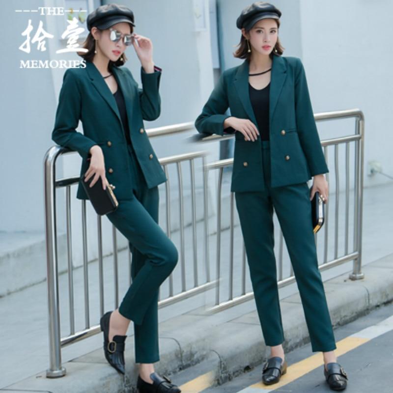 Professionnel Automne Mode Costume 3 Et D'entrevue Tempérament Femmes Loisirs Printemps 2 Veste Travail 1 2019 Vêtements Nouveau De Femelle Le Ctqz1