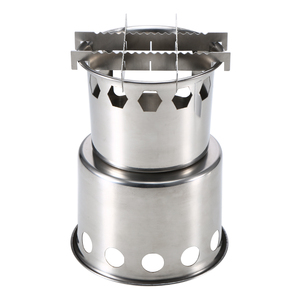Image 3 - Lixada Portable Folding Wood Stove Outdoor Lightweight Stainless Steel Picnic Camping Cooking Wood Camping Stove