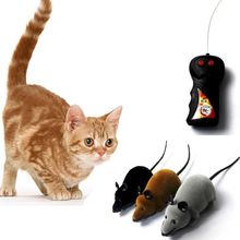 Новое дистанционное управление; Электроника беспроводной Крыса Мышь игрушка для кота собаки домашнего животного Забавный подарок