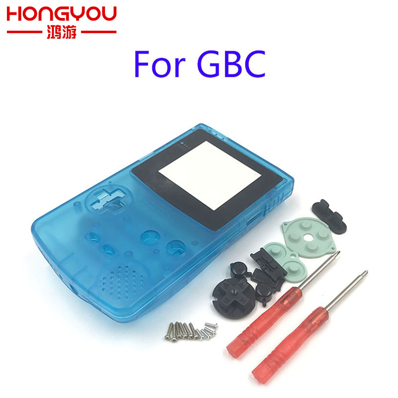 Full Housing Repairt Parts Cover For Nintendo GBC Case Pack For Gameboy Color Shell Screwdriver Buttons Stickers For GBC