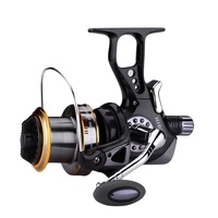 Surfcasting Fishing Reel: Infinite Anti Reverse Structure, Fishing Spinning Carp Reel, J3FR, Black,9+1BB,1 Spare Plastic Spool