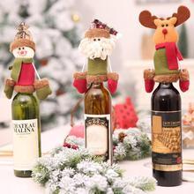 Рождественский Санта-Клаус, снеговик, олень, бутылка для вина, герметик, рождественский подарок для дома, рождественские вечерние украшения для вина