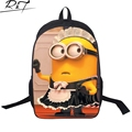 sale minions 3D school bag for children,cartoon despicable me boys schoolbag,fashion  bags for kids gifts free shipping