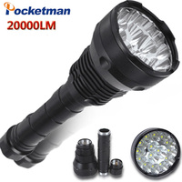 20000 Lumens LED lampe de Poche 15 x CREE XM-T6 LED 5 Modes Étanche Super Bright LED Torche Lanterne Lampe Torche lampe