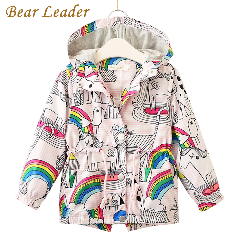 bd69a0fb9da9 Bear Leader Girls Jackets 2018 New Autumn Brand Children Coats For ...
