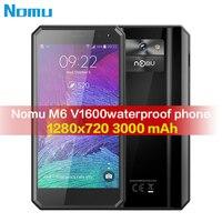 Nomu M6 V1600 Rugged 5.0HD Quad Core 2GB RAM 16GB ROM MTK6737T Android 6.0 13.0MP 1280x720 3000mAh IP68 Waterproof Mobile Phone