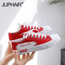 Low tie Color hand-painted canvas shoes female students new white Buy shoe Korean version of the wild graffiti tide