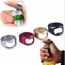 лучшая цена 4 Colors Creative Stainless Steel Beer Openers Finger Ring Ring Shape Beer Bottle Opener Bar Tools