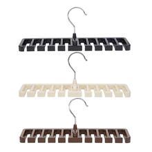Пластиковый органайзер для галстука, пояса, шарфа, шкаф, шкаф, экономия пространства, вешалка для мужчин и женщин, одежда с металлическим крюком, ремень для хранения
