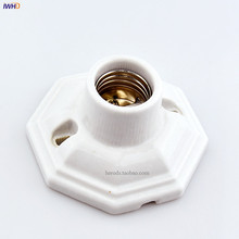 IWHD Portalamparas старинный держатель лампы E27 Цоколь для настольной лампы Douille фитинг E27 патрон патрона Creamic