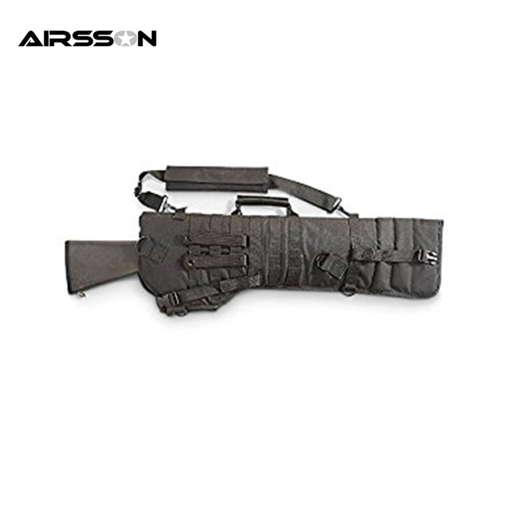 Airsson 75CM Hunting Backpack Military Shotgun Rifle Square Carry Tactical Bag Gun Protection Case Backpack Molle Scabbard Bag gun protector case backpack tactical handgun pistol carry bag wargame sports military hunting camping bag pouch backpack