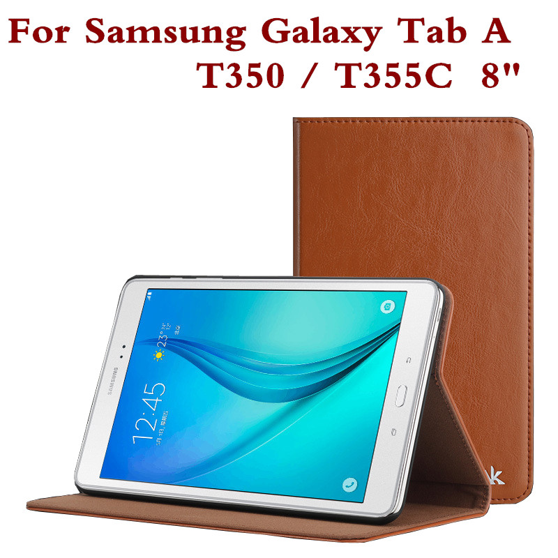 Fashion Leather Tablet Case Cover For Samsung Galaxy Tab A 8.0 Inch T350 SM T355 T355C Protective Shell Protector Film Pen Gifts pu leather tablet case cover for samsung galaxy tab 4 10 1 sm t531 t530 t531 t535 luxury stand case protective shell 10 1 inch