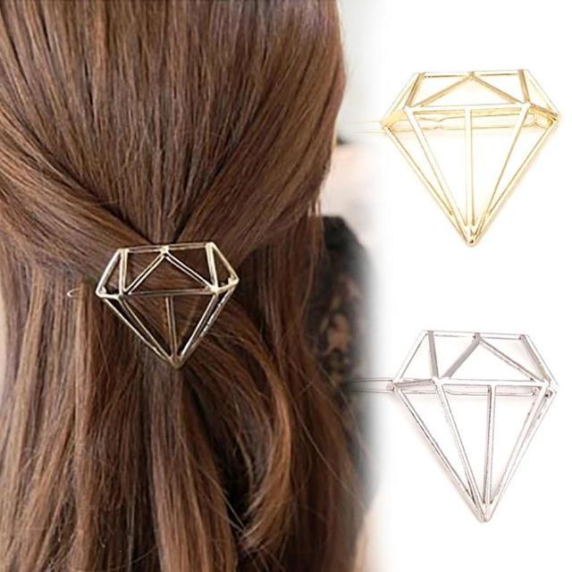 2 pcs Adorável Grampo de Cabelo em Forma de Diamante Mulheres Meninas Grampo de Cabelo Grampo de Cabelo Da Moda Jóias Acessórios S3