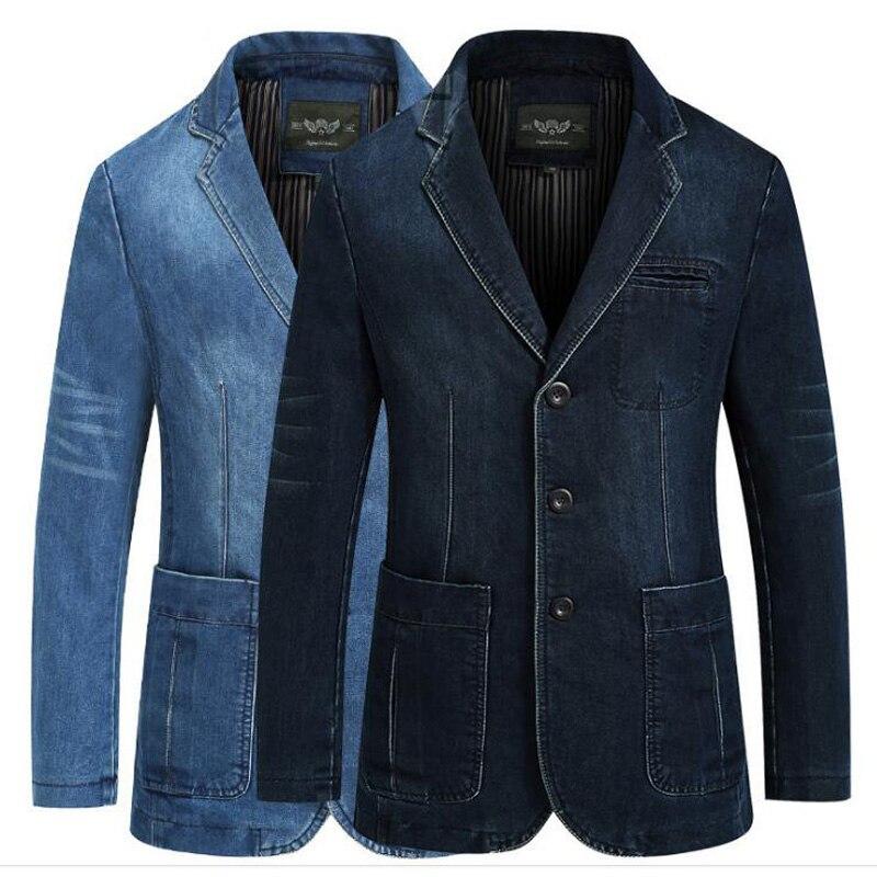 2018 Nouveaux hommes de denim blazer denim veste hommes blazer masculino casual jeans veste de costume