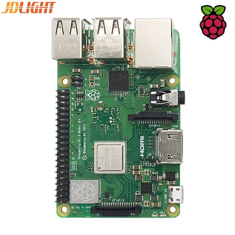 2018 New Original Raspberry Pi Modèle B +, Plus La Pension Pi3 B + 1 3 GB RAM LPDDR2 Quad- core Wifi Bluetooth dissipateur de chaleur Cas ventilateur