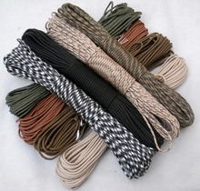 Paracord 550 Paracord Parachute Cord Lanyard Rope Mil Spec Type III 7Strand 100FT Climbing Camping survival equipment