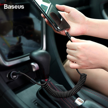 Baseus Flexible Spring USB Cable For iPhone 2A Fast Charging Charge Wire Cord Data Sync Cable For iPhone X S Max XR 8 7 6 Cable