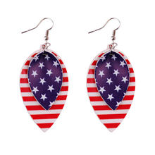 2020 новые кожаные серьги с американским флагом zwpon модные