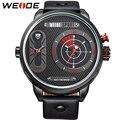 WEDIE Popular Big Dial Watches For Men Luxury Brand Analog Display Quartz Movement 30m Waterproof Black Wrist Watches