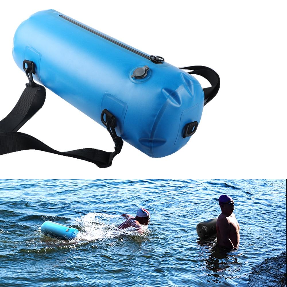 12L Waterproof Dry Bag Swim Safety Buoy Tow Float Bag Backpack Kayaking Fishing Swimming Drift Shoulder Bag Drybag