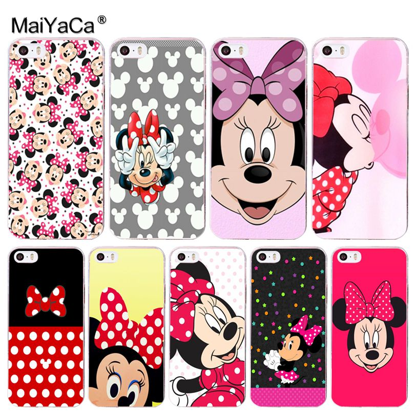 MaiYaCa Minnie mouse Pattern Luxury Accessories Shell Case for iPhone 8 7 6 6S PlusX 10 5 5S SE 5C Mobile Pouch