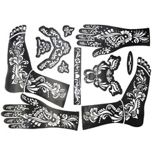 2Pcs Large Henna Tattoo Stencils 38x29cm For Painting Kit Temporary Mehndi Template Stencil Indian Henna Tattoo For Body Paint