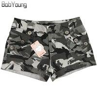 BabYoung 2017 Summer Style Casual Shorts Women Military Camouflage Print Sexy Short Feminino Pantaloon Femme US