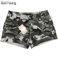 BabYoung 2017 Summer Style Casual Shorts Women Military Camouflage Print Sexy Short Feminino Pantaloon Femme US