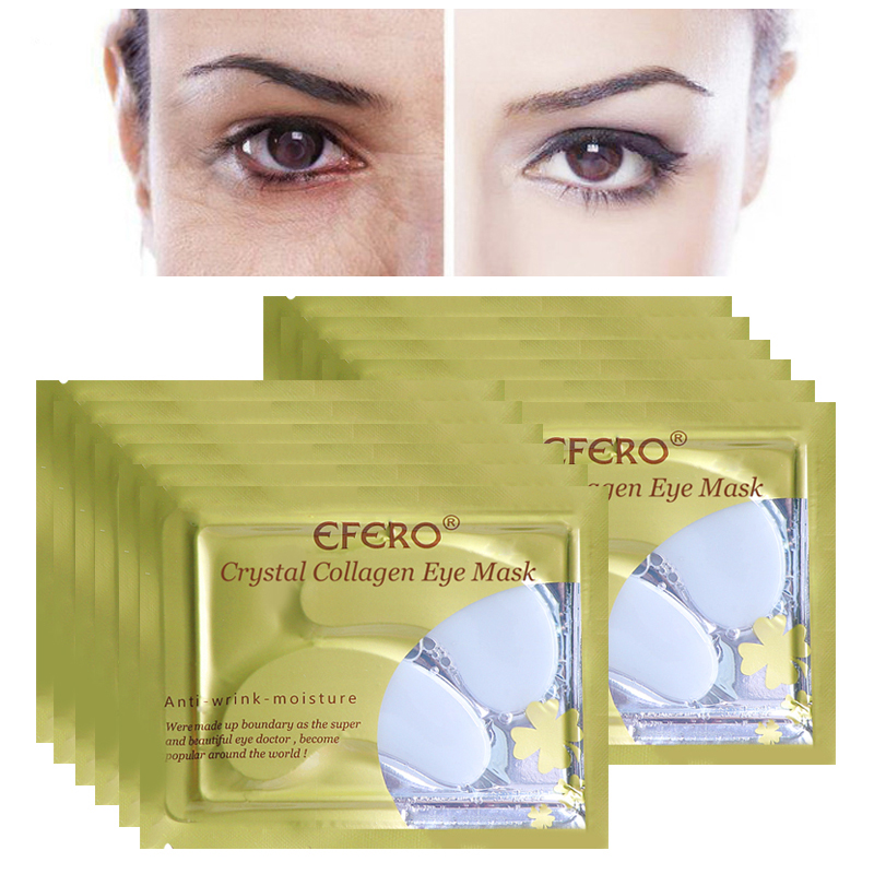16pcs 8pair EFERO Collagen Eye Mask Gel Patches Under Eye Pads Moisturizing Anti Aging Eye Care Sheet Mask Dark Circles Remover in Creams from Beauty Health