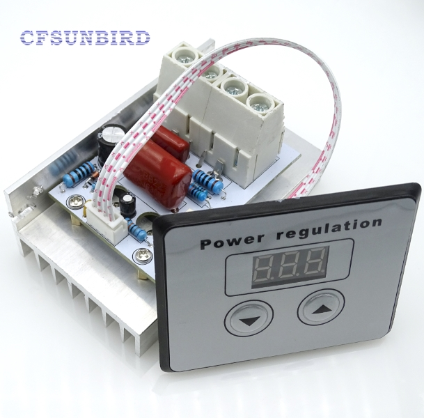 new 10000W import SCR Super Power Electronic Digital Regulator Dimmer Speed Thermostat