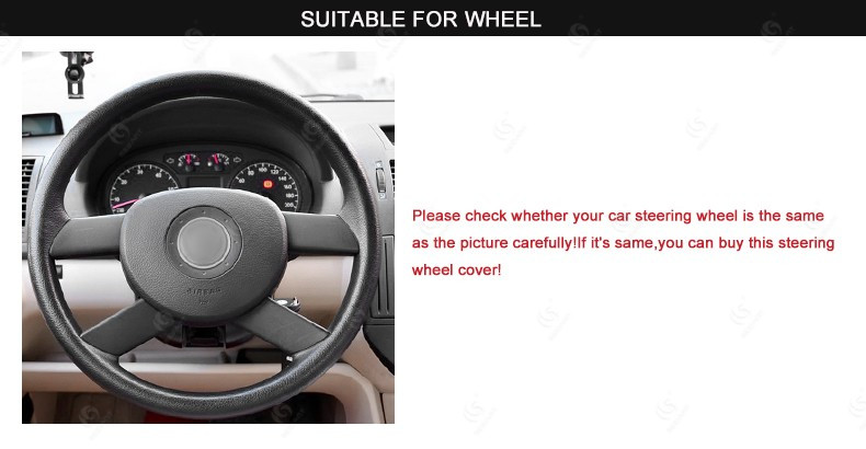 MEWANT for VW Polo 2003 2004 2005 2006 Black Artificial Leather Steering Wheel Covers