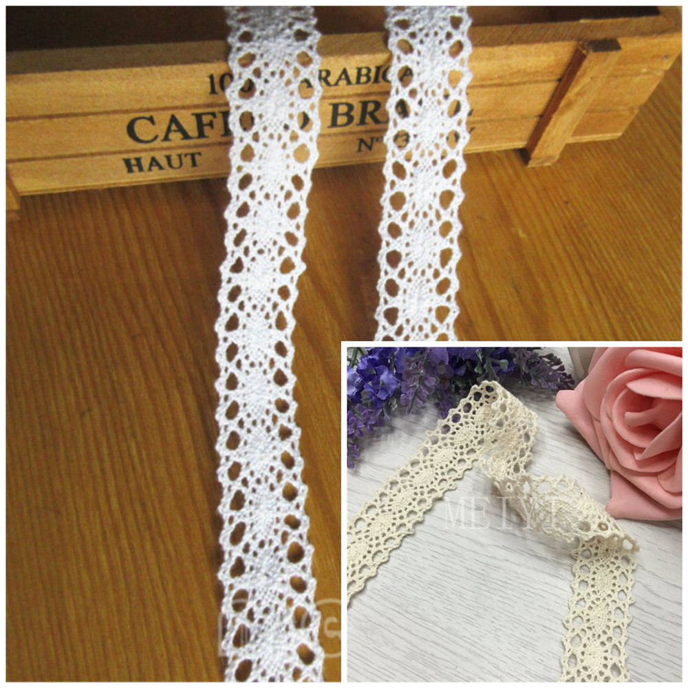 """2 yards off white floral design embroidered crochet clunny trim 2 3//4/"""" US SHIP"""