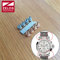 2pieces/set steel watch screw rod screw tube for Guess GC B1 watch steel band/ leather strap link lugs
