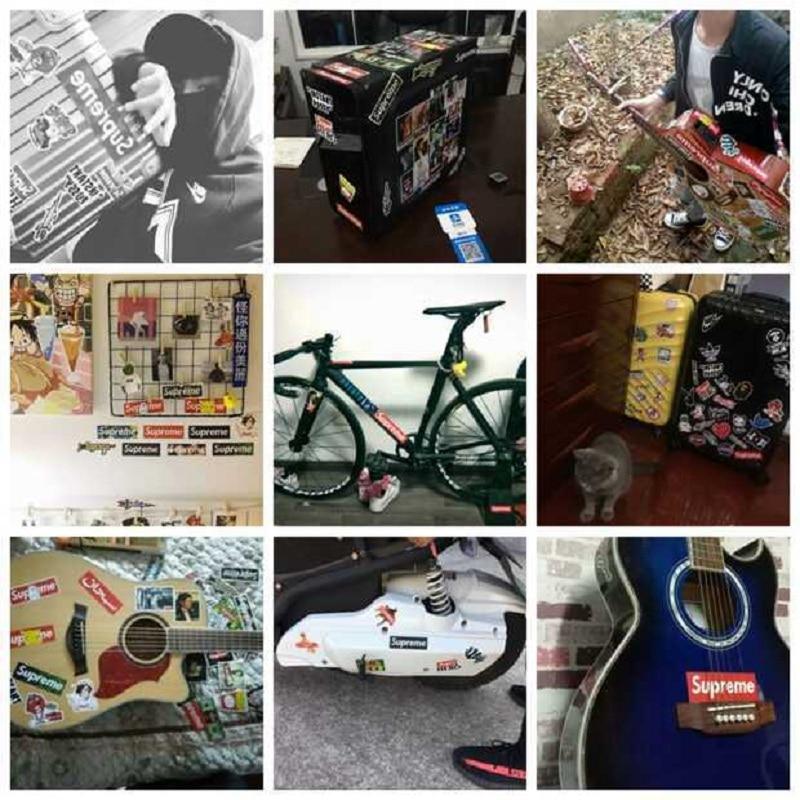 ZAQ 100 Rock Band Rock Maleta Pegatinas Laptop Laptop Guitarra Maleta Graffiti Stickers Impermeable