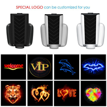 1PCS Universal Rechargeable Wireless Car Door Welcome Light LED Laser Projector font b Lamp b font