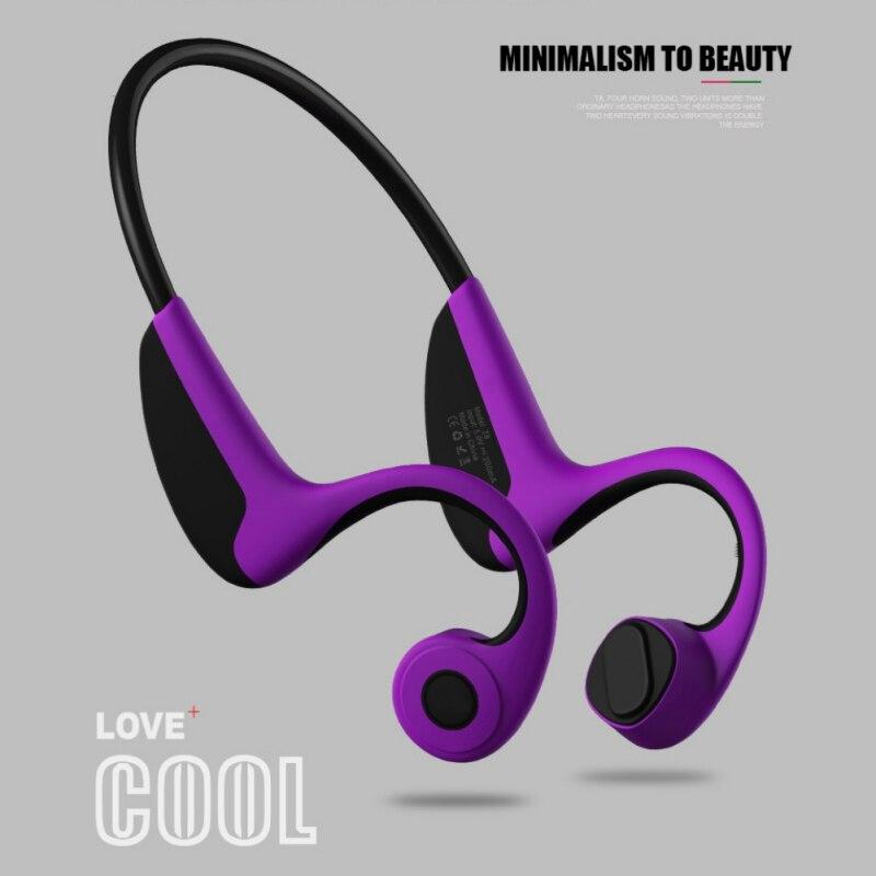 Sports Earphone Waterproof Bluetooth Wireless Bone Conduction Hand-free Headphones Stereo Headset With Mic