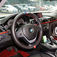 Carbon Fiber Car Steering Wheel Cover For BMW F10 F20 F30 E90 E91 E92 E93 E82 E81 E87 E88 E34 E60 E61 E84 E70 X1 X5