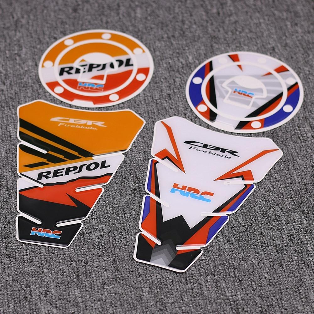 NEW Motorcycle 3D Tank Pad Cap Stickers For Honda CBR600RR CBR1000RR CBR250R CBR Fireblade Motorbike Tank Cover Protector Decal