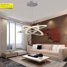 Modern Ring circles led pendant lights for dining living room acrylic cerchio anello lampadario lighting lamp lamparas modernas