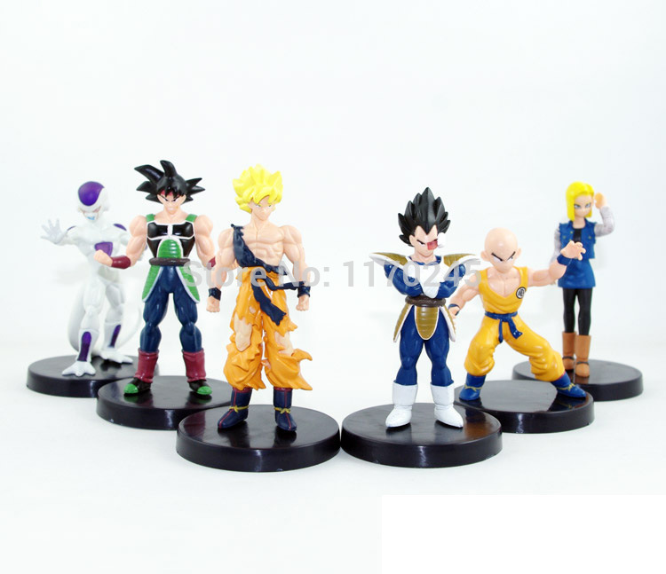 Anime Dragon Ball Z Vegeta/Freeza/Kuririn/Goku 6 pcs/set PVC Action Figure Collection Model classic Toys