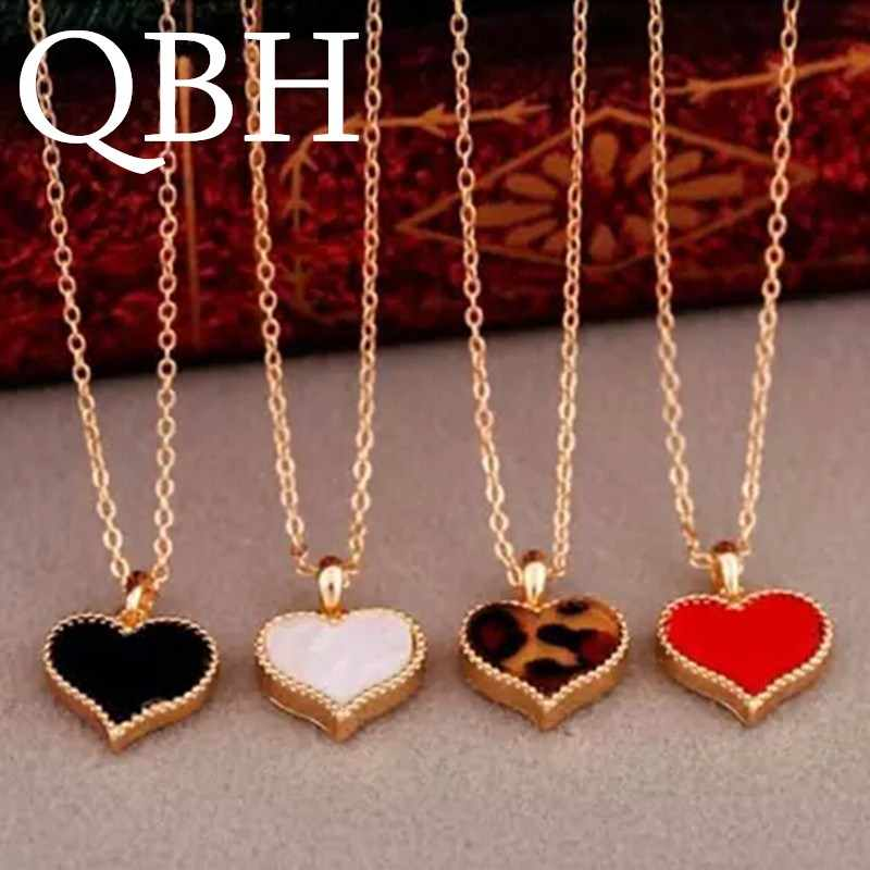 NK147 Fashion Hot vintage New Gossip Girl Serena red heart with love pendant necklace clavicle chain models Wholesales