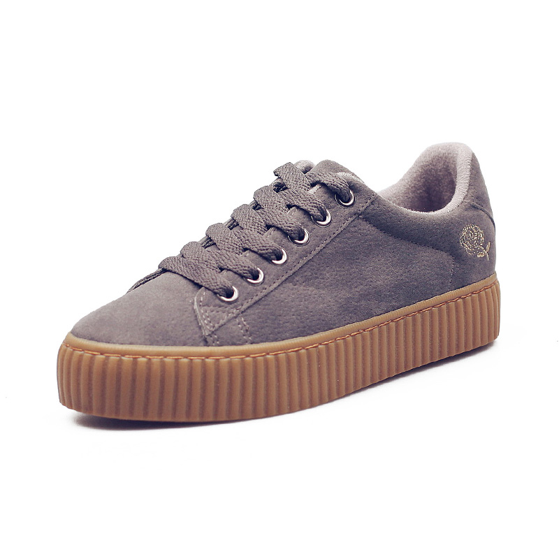 HUANQIU 2017 Women Shoes Leather Army Green Casual Sneakers for Female Black Shoes Zapatillas Deportivas Mujer Tenis Feminino 2017brand sport mesh men running shoes athletic sneakers air breath increased within zapatillas deportivas trainers couple shoes