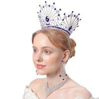 2017 Giant Miss Universe Queen King Men's Regal Sparkly Austrian Rhinestones Gold Golden Wedding Diadem Tiaras And Crowns Bride