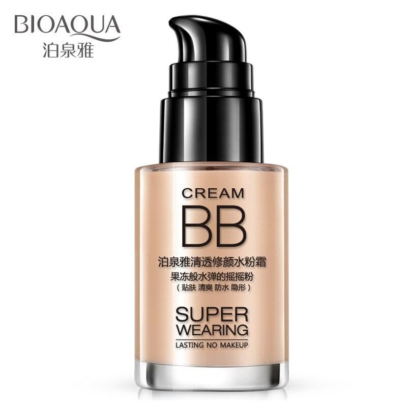 Bioaoua Отбеливание BB крем Уход за кожей солнцезащитный крем увлажняющий нестареющий анти обветривания против морщин ярче Природный Красота
