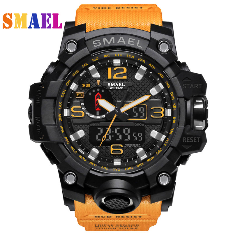 где купить  Fashion Mens Sports Watch LED Digital Waterproof Casual S-Shock Male Clocks Relogios Masculino Men's Gift Military Wrist Watches  по лучшей цене