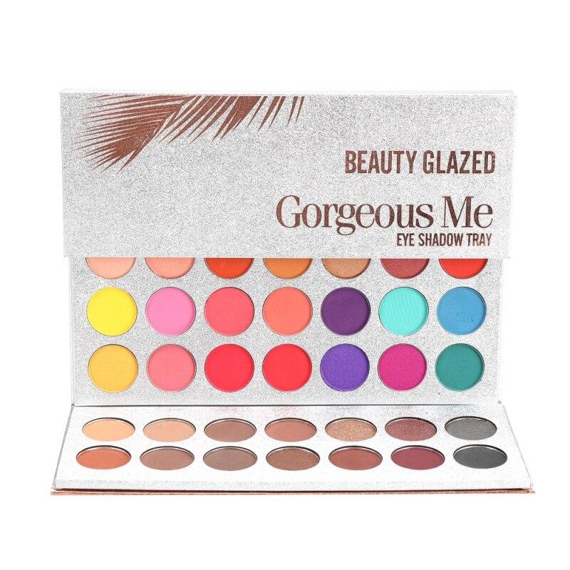 Beleza vitrificada 1pc 63 cores paleta de sombra brilho maquiagem fosco sombra de olho maquiagem maquillage
