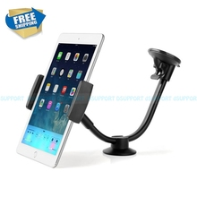 LP-3C Gooseneck Soft Pipe Car Window Suction Mount Dashboard Holder for 3.5- 5.5 inch Mobile Phone & 9-10 inch Tablet PC Stand