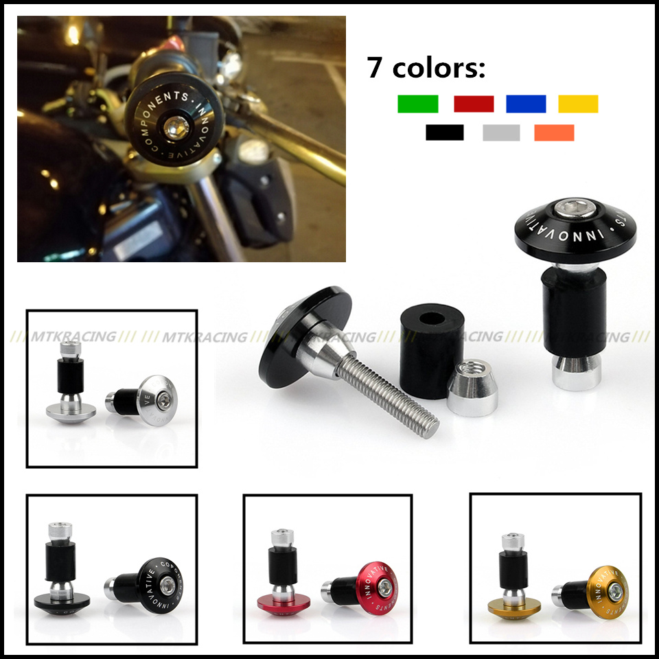 Motorcycle Universal 7/8 22mm CNC Handlebar Grips ends Bar Ends Handlebar Caps For DUCATI MONSTER 620/696/796/821/1200 DIAVEL 22mm 7 8 motorcycle aluminum handlebar grips bar ends sliders for ducati monster 600 dark monster 620 monster 696 monster 750