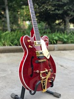 Vicers Good Quality Red Jazz Electric Guitar , with gold color hardware , hot selling high quality guitarra